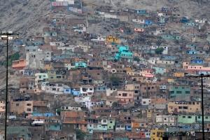 Shantytown outside Lima, Peru.